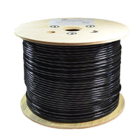 CAT5e U/UTP Direct Burial Gel-Filled CMX Black Cable - 1000 FT