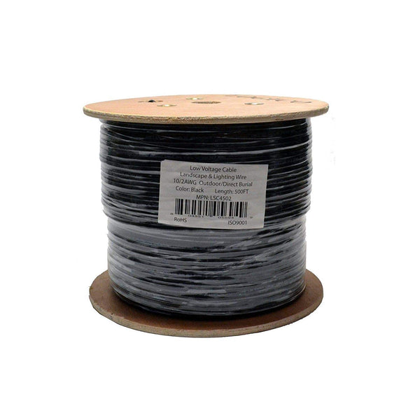 10/2 Landscape Wire Black Reel - 500ft