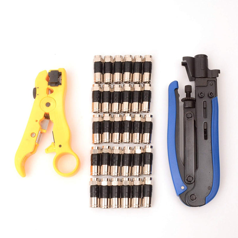 Coaxial Cable Compression Tool Kit v2