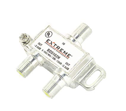 Extreme BDS102H 2 Way Universal Coaxial RG6 Splitter