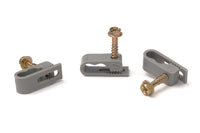 Grip Clip Cable Mounting Clips for Dual RG59 RG6 - Grey
