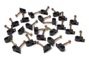 Grip Clip Cable Mounting Clips for RG59 RG6 Quad Shield - Black - 100 pack