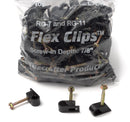 Grip Clip Cable Mounting Clips for RG7 RG11 - Black - 100 pack