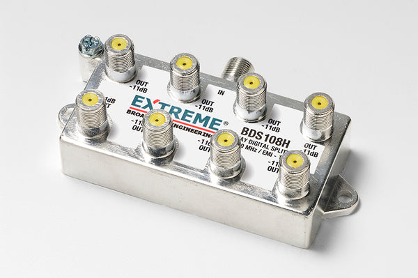 Extreme BDS108H 8 Way Universal Coaxial RG6 Splitter