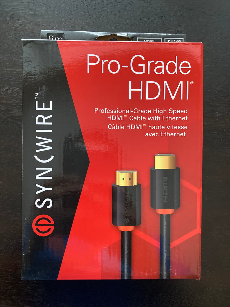 SYNCWIRE Pro-Grade High Speed HDMI Cable W/ Ethernet - 8M / 26.2 FT