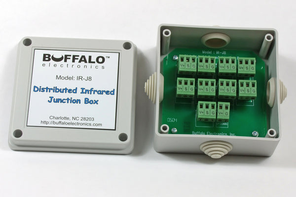 Structured Wiring Box - Connect Up to 8 Repeaters to One IR-100 Connecting Block + Optional Power Connection