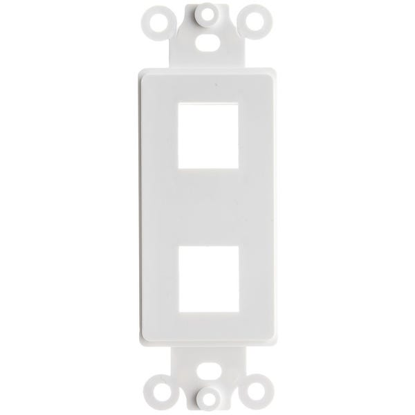 Vericom XFPTP-00498 Decora Wall Plate Insert 2 Keystone Jack, Single Gang - White