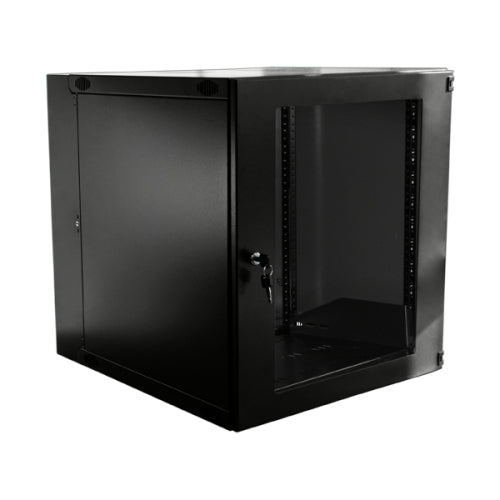 Double Hinge Swing Out Wall Mount Cabinet - 12U