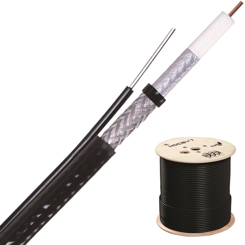 PCT RG6 Black Messenger ATZ677TS-BVM1P Coaxial Cable - 1000ft