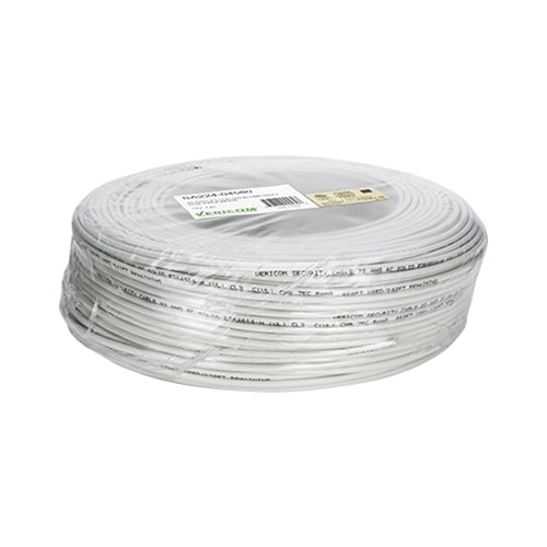 22 AWG 4 Conductor Unshielded Solid CMR Security Cable 500 FT SpeedCoil - White
