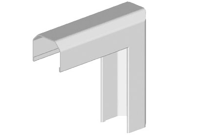 "1/2"" Outside Corner Fitting (White)"