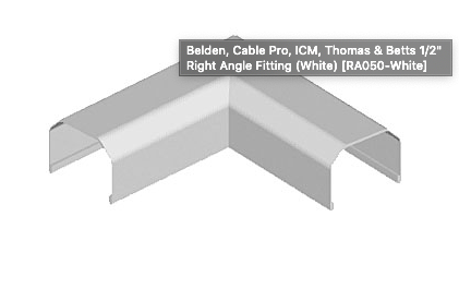 "1/2"" Right Angle Fitting (White)"
