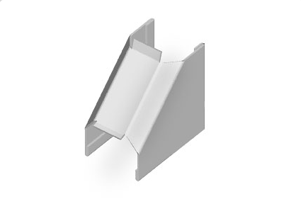 "1/2"" Inside Corner Fitting (White)"