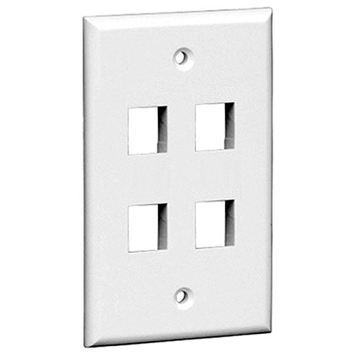 Vericom XFPOP-03418 Keystone Wall Plate Four Port - White