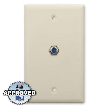 Holland 3Ghz Single F Coaxial Wall Plate - Ivory