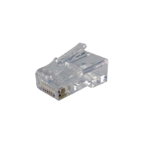 CAT6 RJ45 Clear Connector Ends - Bag of 50