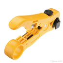 AG Cabes Ethernet and Coaxial Cable Stripper - Yellow