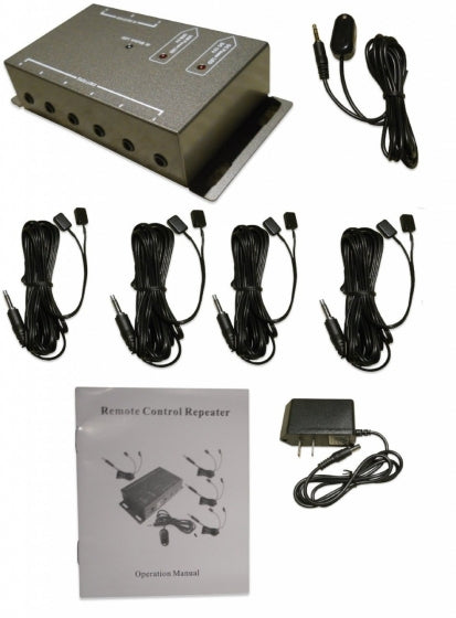 IR Repeater - Remote control extender kit - Operate 1 to 8 devices