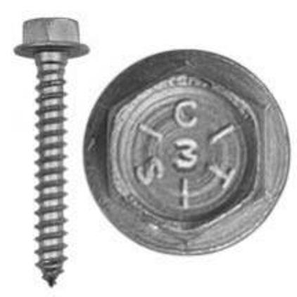 "Lag Bolt (washer head) 5/16 x 3"" - 100 pack"