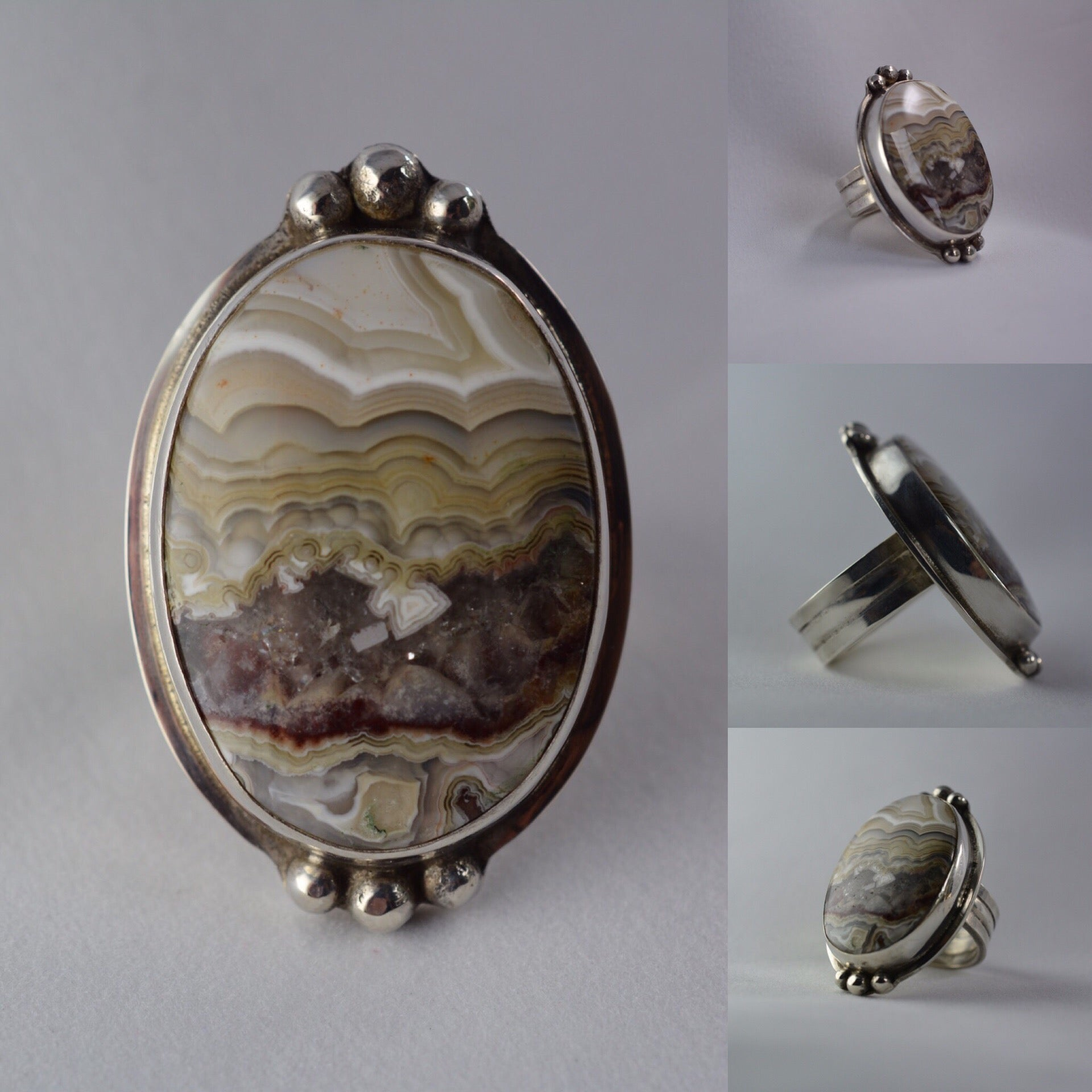 Crazy Lace Agate + Sterling Silver