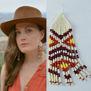 Beaded Diamondback Earrings