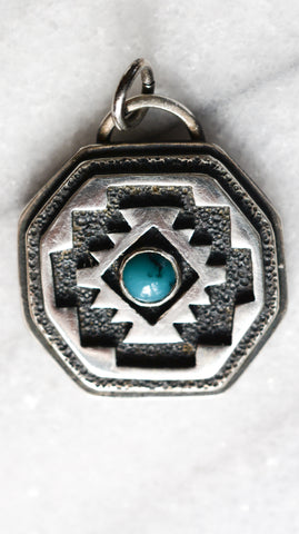 Southwest Inspired Pendant: Turquoise + Sterling Silver