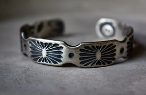Cuff: Stamped Sterling Silver