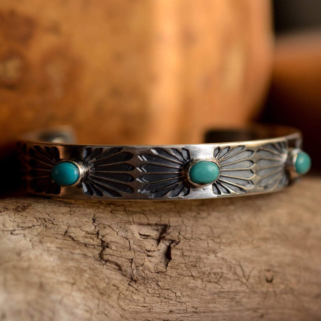 Cuff: Kingman Turquoise + Sterling Silver