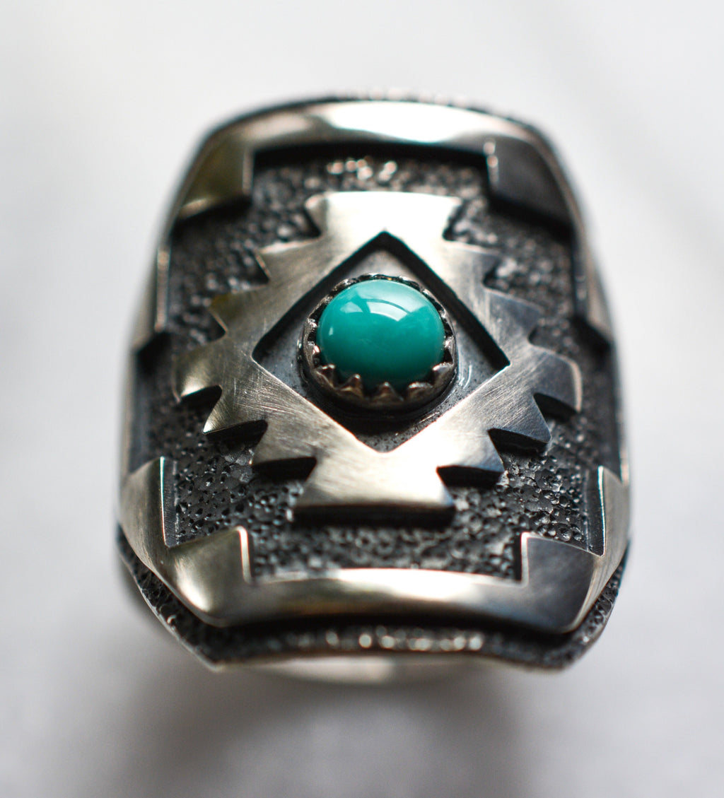 Ring: Kings Manassa Turquoise + Sterling Silver