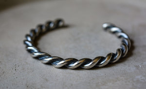 Sterling Silver Rope Cuff