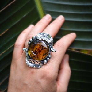 Gorgeous Amber Statement Ring