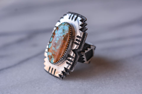Ring: Number 8 Turquoise + Sterling Silver