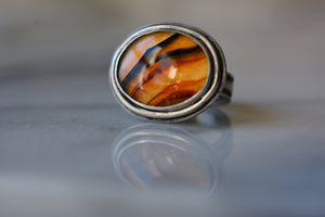 Ring: Montana Agate + Sterling Silver & 24K Gold