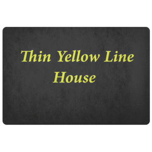 Thin Yellow Line House Doormat