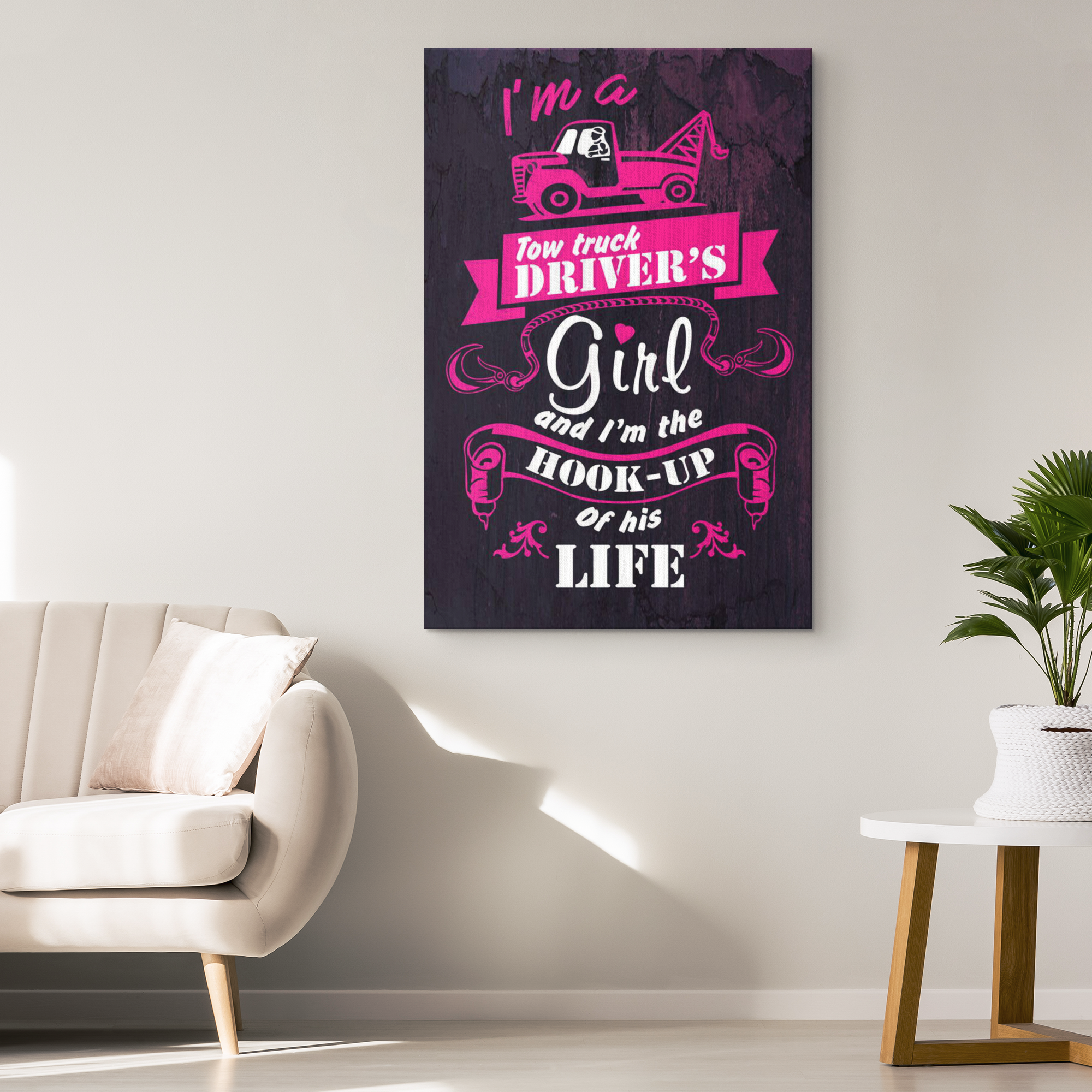 Tow Truck Driver's Girl Canvas