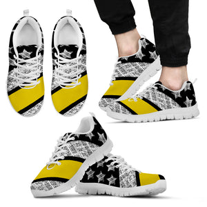 Thin Yellow Line Men's Sneakers (White)