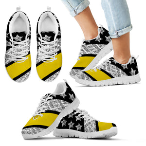 Thin Yellow Line Kid's Sneakers (White)