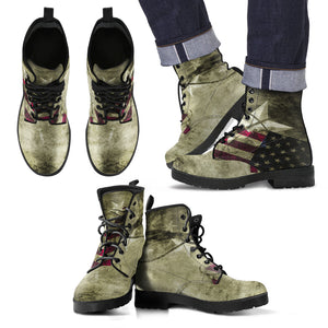 Greenish Flag Mans Boot