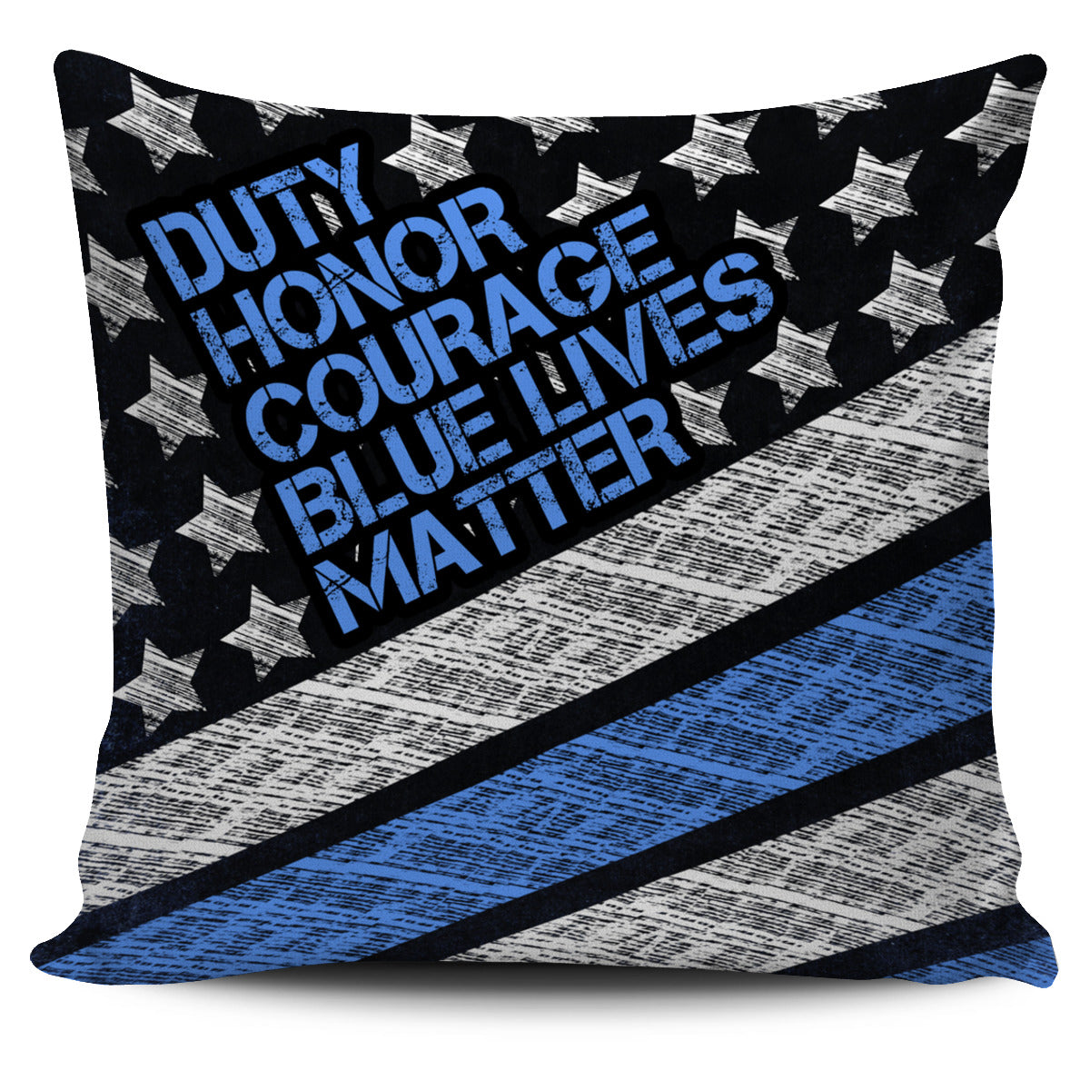 Blue Lives Matter Pillow Cover