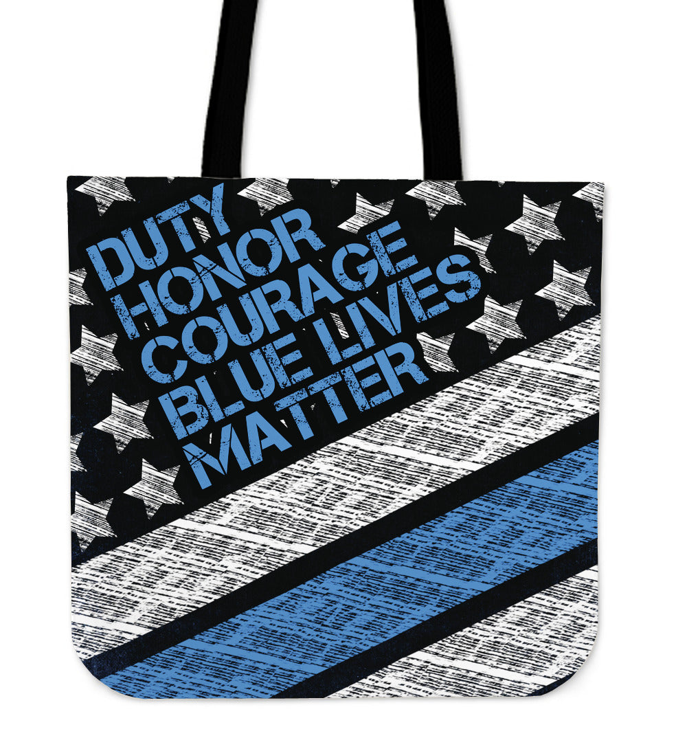Blue Lives Matter Premium Poly Cotton Tote Bag