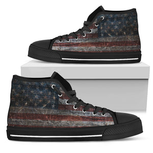 American Flag Handcrafted High Tops