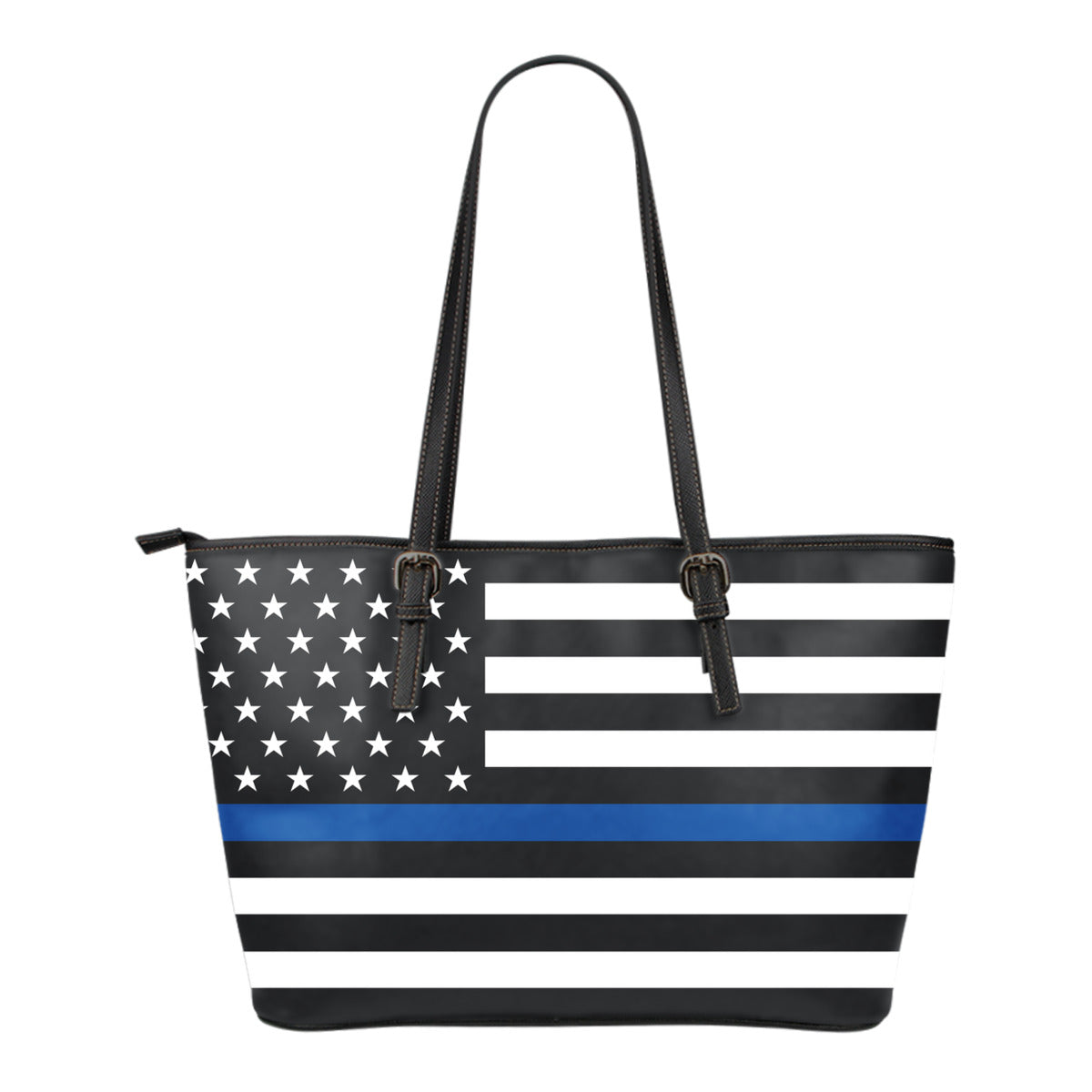Thin Blue Line Small Leather Tote
