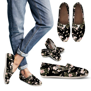 Floral Pattern Handcrafted Casual Shoes