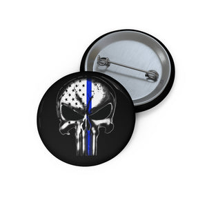 Thin Blue Line Pin Buttons