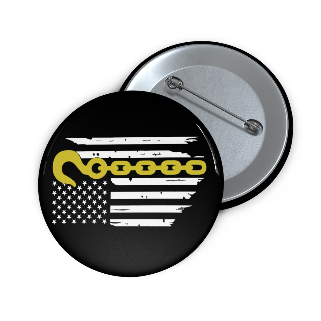 Thin Yellow Line Pin Buttons