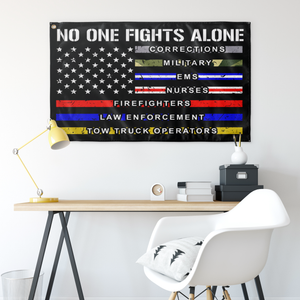 No One Fights Alone Flag