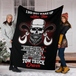 Proud Tow Truck Driver Blanket - Black Version