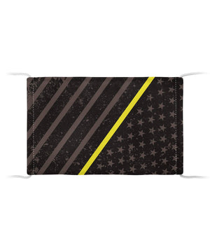 Thin Yellow Line Face Mask (Unisex)