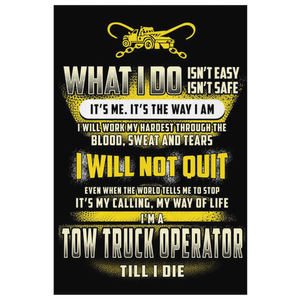Proud Tow Operator Canvas