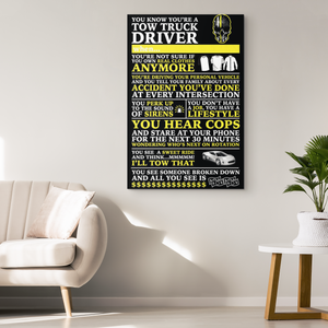 Tow Truck Operator Canvas